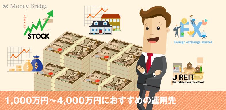 1000万円から4000万円の資産運用方法